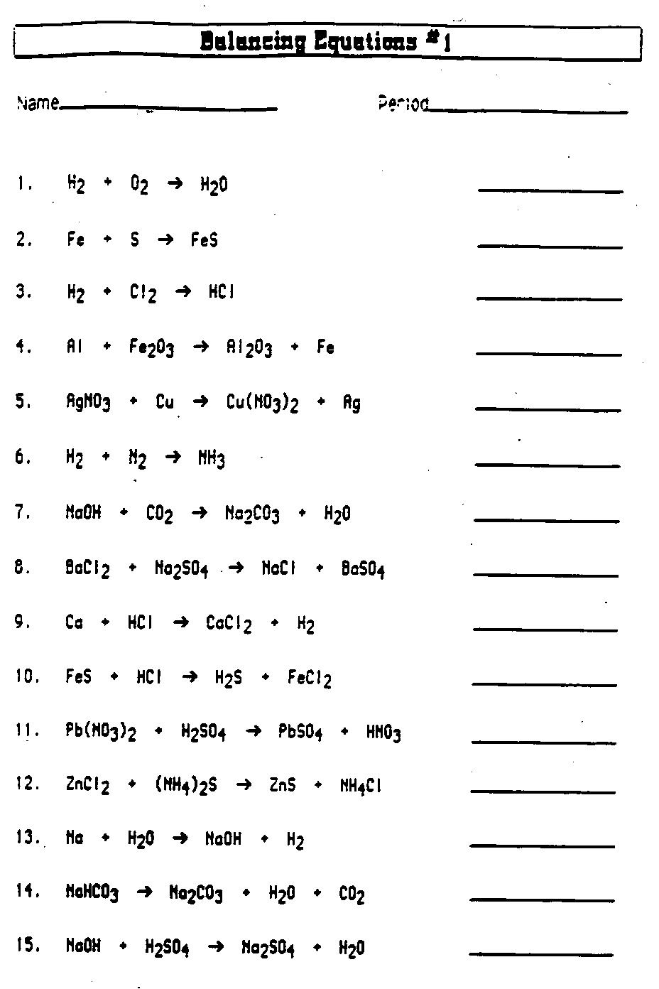 Worksheet Chemistry Worksheet all chemistry resources ammerman